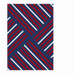 Geometric Background Stripes Red White Small Garden Flag (Two Sides)