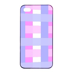 Gingham Checkered Texture Pattern Apple Iphone 4/4s Seamless Case (black) by Nexatart
