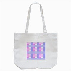 Gingham Checkered Texture Pattern Tote Bag (white) by Nexatart