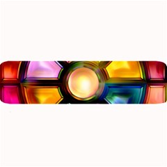Glass Colorful Stained Glass Large Bar Mats by Nexatart