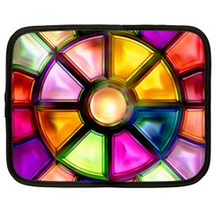 Glass Colorful Stained Glass Netbook Case (XL)  by Nexatart