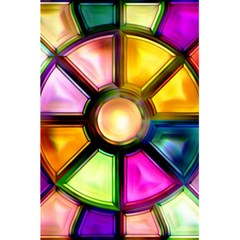 Glass Colorful Stained Glass 5.5  x 8.5  Notebooks by Nexatart