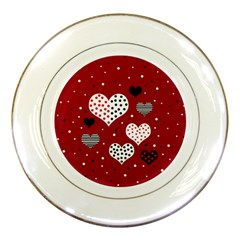 Harts Porcelain Plates by Valentinaart