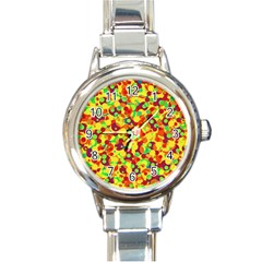 Bubbles Pattern Round Italian Charm Watch by Valentinaart