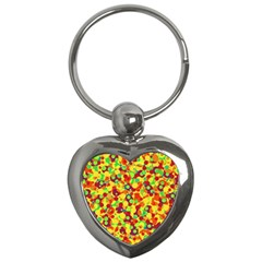Bubbles Pattern Key Chains (heart)  by Valentinaart