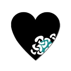 Elegant Abstraction Heart Magnet by Valentinaart