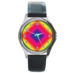 Hippie  Round Metal Watch by Valentinaart