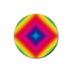 Hippie  Rubber Coaster (round)  by Valentinaart