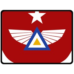Emblem Of The Myanmar Air Force Fleece Blanket (large)  by abbeyz71