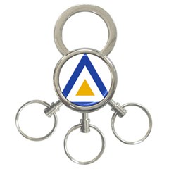 Roundel Of The Myanmar Air Force 3 Ring Key Chains by abbeyz71