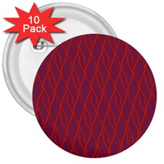 Red Pattern 3  Buttons (10 Pack)  by Valentinaart