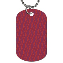Red Pattern Dog Tag (two Sides) by Valentinaart