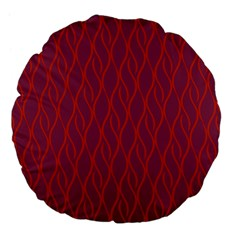 Red Pattern Large 18  Premium Flano Round Cushions by Valentinaart