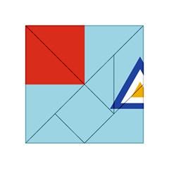 Air Force Ensign ,f Burma, 1948 1974 Acrylic Tangram Puzzle (4  X 4 ) by abbeyz71