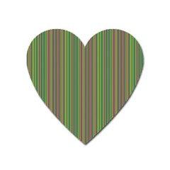 Green Lines Heart Magnet by Valentinaart