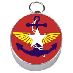 Flag Of The Myanmar Armed Forces Silver Compasses by abbeyz71