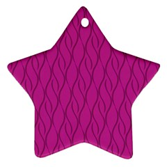 Magenta pattern Star Ornament (Two Sides) by Valentinaart