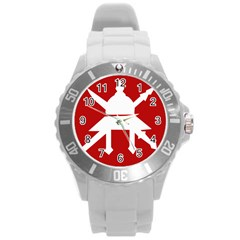 Flag Of The Myanmar Army Round Plastic Sport Watch (l) by abbeyz71