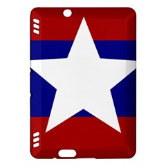 Flag Of The Bureau Of Special Operations Of Myanmar Army Kindle Fire Hdx Hardshell Case by abbeyz71