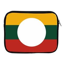 Flag Of Myanmar Shan State Apple Ipad 2/3/4 Zipper Cases by abbeyz71
