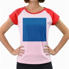 Blue pattern Women s Cap Sleeve T-Shirt