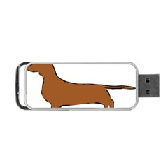 Dachshund Silo Portable USB Flash (One Side) by TailWags