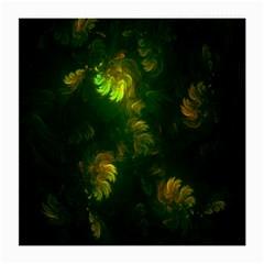 Light Fractal Plants Medium Glasses Cloth (2-Side) by Nexatart