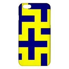 Pattern Blue Yellow Crosses Plus Style Bright iPhone 6 Plus/6S Plus TPU Case by Nexatart