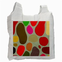 Pattern Design Abstract Shapes Recycle Bag (One Side) by Nexatart