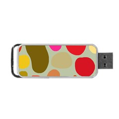 Pattern Design Abstract Shapes Portable Usb Flash (two Sides) by Nexatart