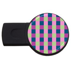 Pink Teal Lime Orchid Pattern Usb Flash Drive Round (2 Gb) by Nexatart