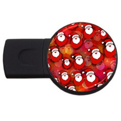 Seamless Santa Tile USB Flash Drive Round (4 GB)