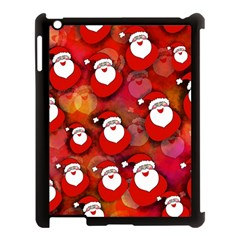 Seamless Santa Tile Apple Ipad 3/4 Case (black) by Nexatart