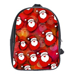 Seamless Santa Tile School Bags (xl)  by Nexatart