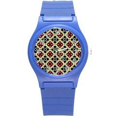 Seamless Tileable Pattern Design Round Plastic Sport Watch (s) by Nexatart