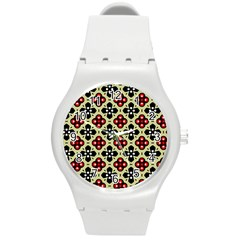 Seamless Tileable Pattern Design Round Plastic Sport Watch (m) by Nexatart