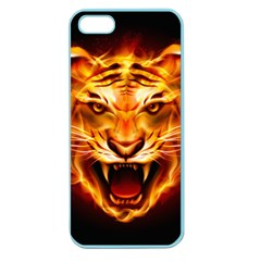 Tiger Apple Seamless Iphone 5 Case (color) by Nexatart