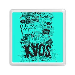Typography Illustration Chaos Memory Card Reader (square)  by Nexatart