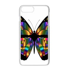 Abstract Animal Art Butterfly Apple iPhone 7 Plus White Seamless Case by Nexatart