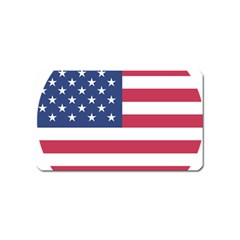 American Flag Magnet (Name Card) by Nexatart