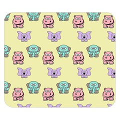 Animals Pastel Children Colorful Double Sided Flano Blanket (small)  by Nexatart