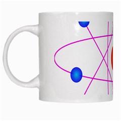 Atom Model Vector Clipart White Mugs by Nexatart