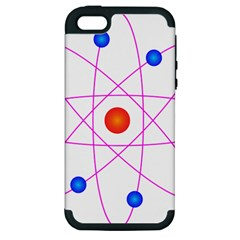 Atom Model Vector Clipart Apple Iphone 5 Hardshell Case (pc+silicone) by Nexatart