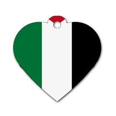 Palestine flag Dog Tag Heart (Two Sides)