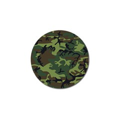 Camouflage Green Brown Black Golf Ball Marker (10 Pack) by Nexatart