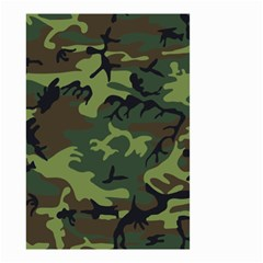 Camouflage Green Brown Black Small Garden Flag (two Sides) by Nexatart