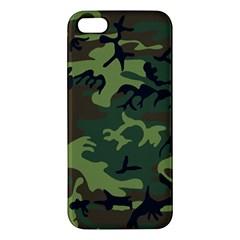 Camouflage Green Brown Black Iphone 5s/ Se Premium Hardshell Case by Nexatart