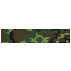Camouflage Green Brown Black Flano Scarf (small) by Nexatart
