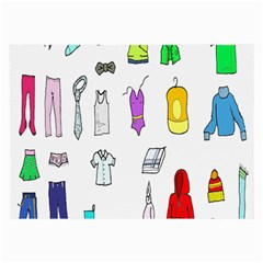 Clothing Boots Shoes Shorts Scarf Large Glasses Cloth (2 Side) by Nexatart