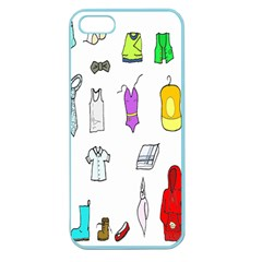 Clothing Boots Shoes Shorts Scarf Apple Seamless Iphone 5 Case (color) by Nexatart